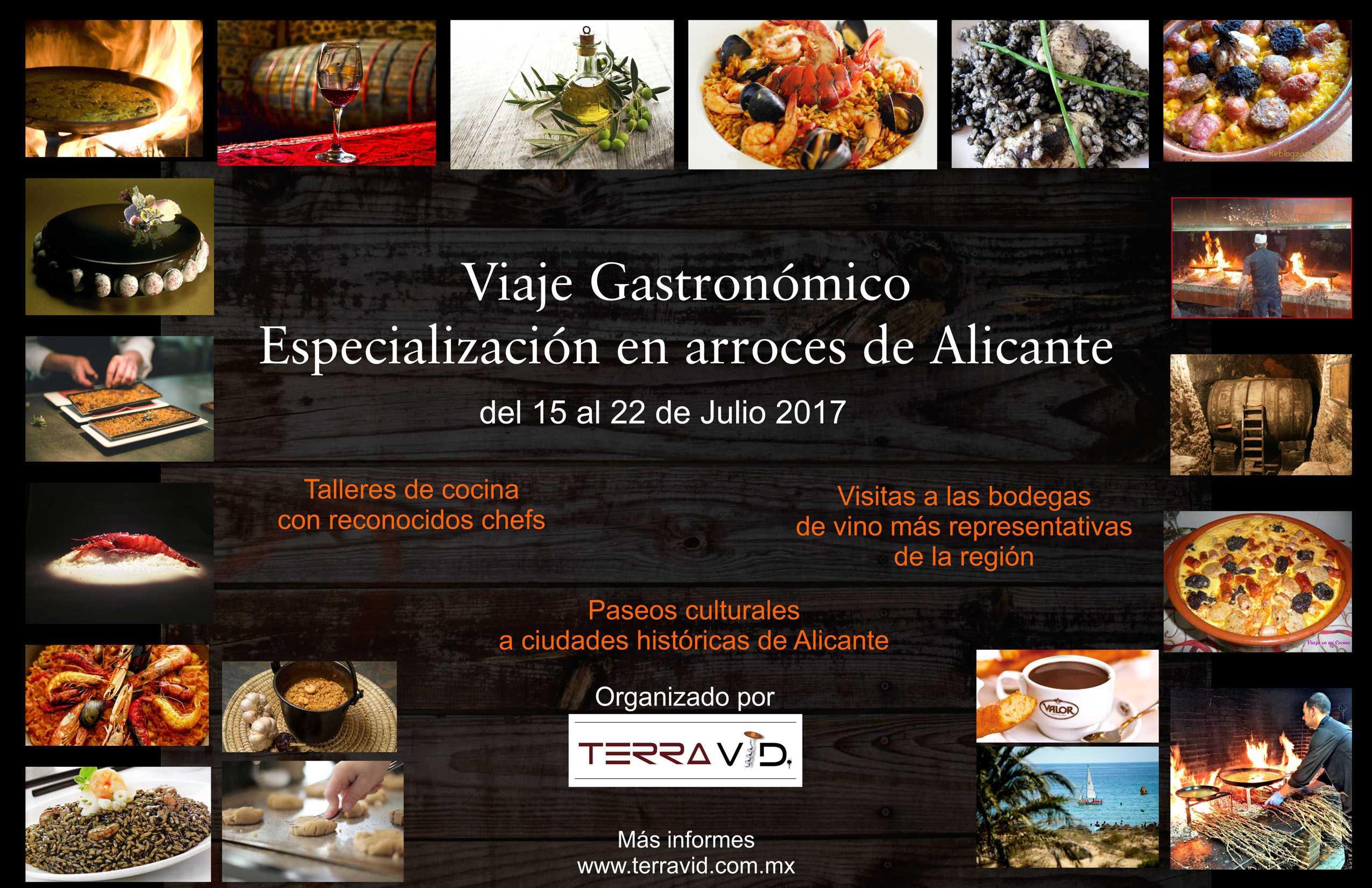 """Viaje Gastronómico """"Especialización en Arroces deAlicante"""""""