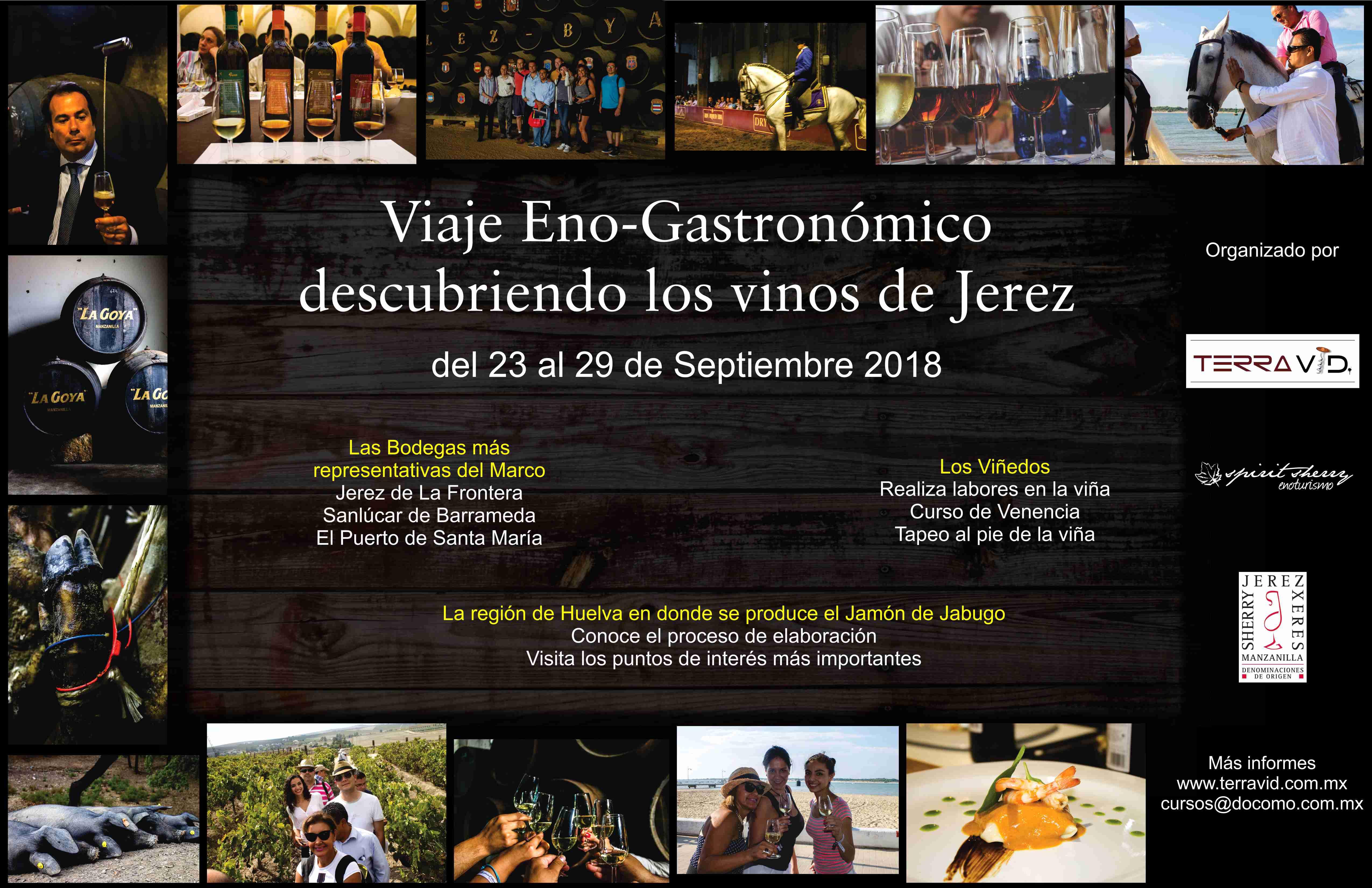 """Viaje Eno-gastronómico """"Conociendo los Vinos de Jerez""""2018"""